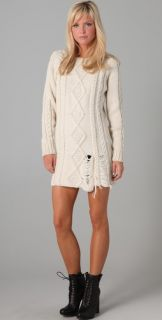 Pencey Cable Knit Sweater Dress