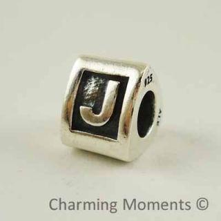 New Authentic Pandora Silver Charm Letter J 790323J Bead