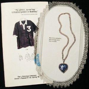 Peterman Catalog 1998 Titanic Heart Ocean Necklace Ad