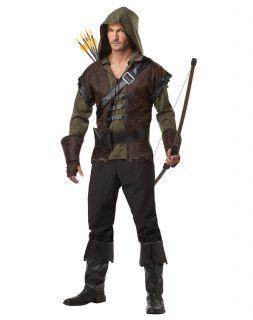 Adult Robin Hood Medieval Warrior Renaissance Costume M L XL 2XL