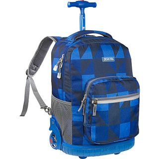 World Sunrise Rolling Backpack Block Navy