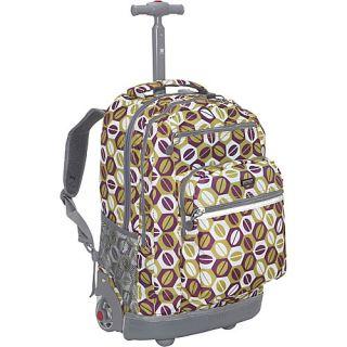 World Sundance Laptop Rolling Backpack Coffee