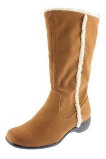 Karen Scott New Kimi Tan Faux Suede Flat Mid Calf Casual Boots Shoes 5