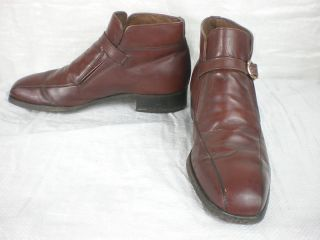 Penney Vintage Brown Leather Ankle Boots Size 8 5