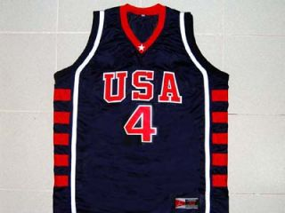 Allen Iverson Team USA Jersey Blue New Any Size