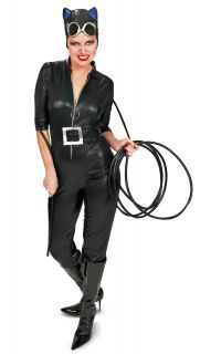 Catwoman Faux Leather Sexy Adult Halloween Costume New