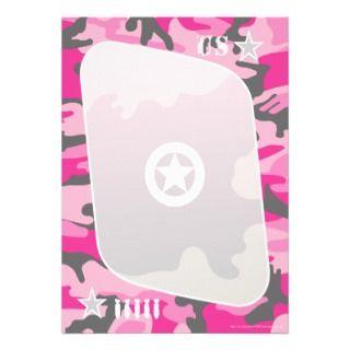 Pink Camo Invitations
