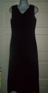 Peterman and Company Navy Blue V neck Silk Dress. Beautiful Evening