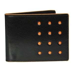 Fold V Twelve Black Orange Bifold Sports Wallet