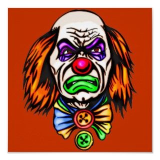 Evil Clown Face Posters