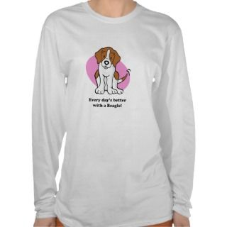 Cute Cartoon Dog Beagle Long Sleeve Tshirt