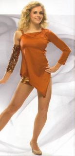 Metro Tunic w Boy Shorts Glove Dance Costume Adult XXL