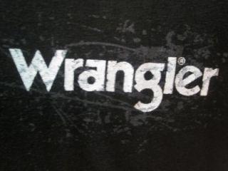 New Mens Western Wrangler Jack Daniels Black T Shirts