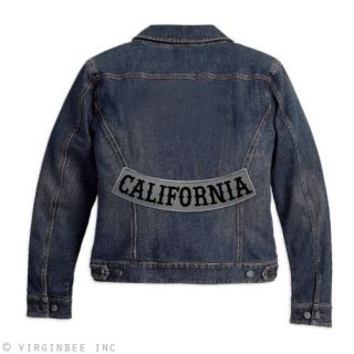 California Reflective Lower Rocker Biker Jacket Patch