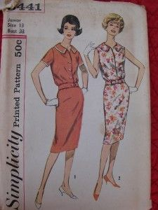 1960s Simplicity 5986 3441 2 Piece Dress Pattern 13