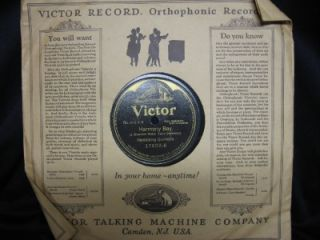 Antique Shellac Victor Talking Machine Co 78 Record