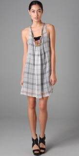 Rozae R.N. Plaid Beaded Dress