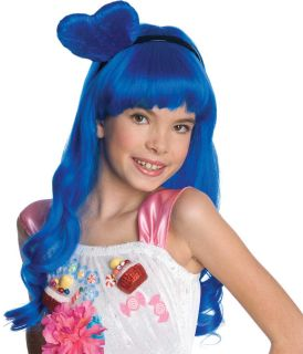 Katy Perry California Girls Gurls Costume Heart Blue Wig Child with