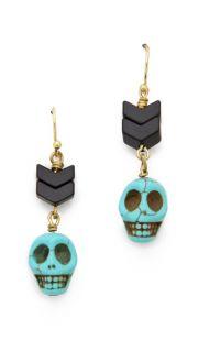 Maison Scotch Skull Beaded Earrings