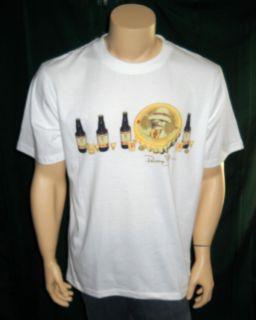 Panama Jack White Cotton T Shirt Beer Shots Drinking
