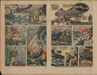 Jack Kirby Thor 156 Original Production Art Proof Page 1968 Mangog