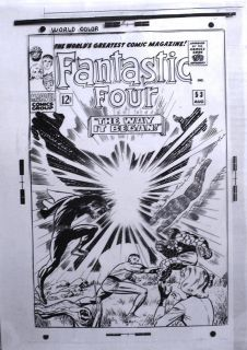 FANTASTIC FOUR #53 JACK KIRBY COVER ORIGINAL ART PRODUCTION