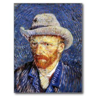 Self Portrait with Grey Felt Hat, Vincent Van Gogh Post Card