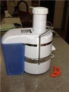 Jack Lalanne Power Juicer 250 Watts Classic White Model CL 003AP