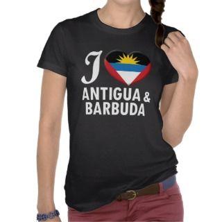 Antigua & Barbuda Love W Tee Shirts