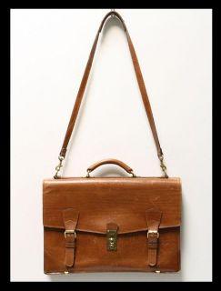 Vtg Belting Leather Briefcase Bag Lawyer Attache Locks Key Schlesinger