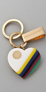 Juicy Couture Resin Heart Key Ring