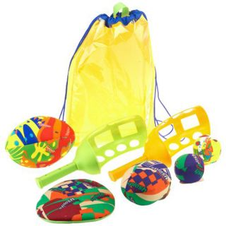 Bombs 8PC Pool Party Pack Jai Alai Racquets Footballs Fling Bag