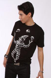 Akumu Ink The Juggler Gothic Harlequin Mens T Shirt Black