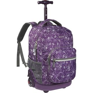 World Sunrise Rolling Backpack Love Purple