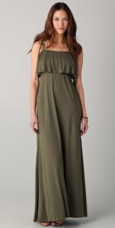 Haute Hippie Ruffle Maxi Dress