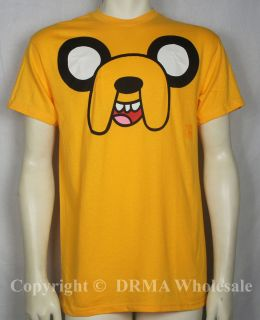 Authentic Adventure Time Jake Face T Shirt s M L XL Official New