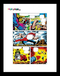 Jack Kirby The Mighty Thor 164 RARE Production Art PG 18