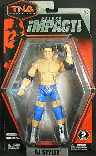 AJ Styles TNA Deluxe Impact 2 Jakks Toy Action Figure