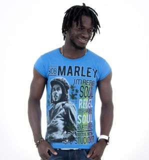 Shirt Top Tee Bob Marley Jamaica Music Soul Reggae 4Size 2color