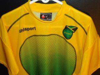 MINT AUTHENTIC UHLSPORT JAMAICA FOOTBALL RASTA JERSEY SHIRT HIGH