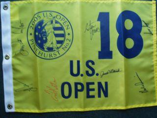 US Open Signed Flag Pavin Irwin Fleck Pate Nelson Kite Simpson