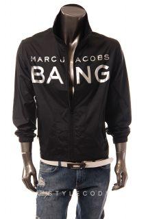 New Marc Jacobs Mens Windbreaker Jacket Black One Size