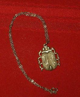 Judith Jack Scarab Beetle Necklace Vintage