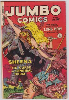 Comics 143 FN Fiction House Sheena GGA Kamen Art Jungle Comics