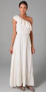 Odylyne Kisskadees Ruffle Long Dress