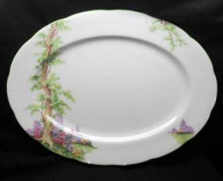 Royal Albert Greenwood Green Trim Oval Platter 13 Amp quot Dish