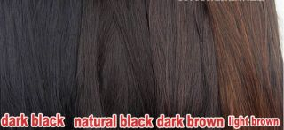 Full Head Clip in Hair Extensions Black Brown Blonde for 2012 Human