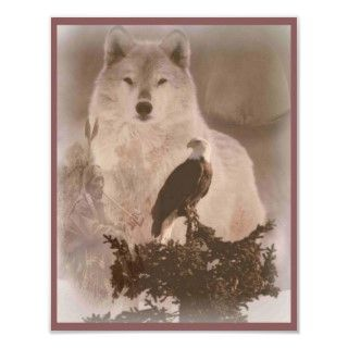 eagle moon wolf posters