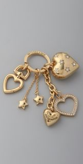 Juicy Couture Hearts and Stars Keychain