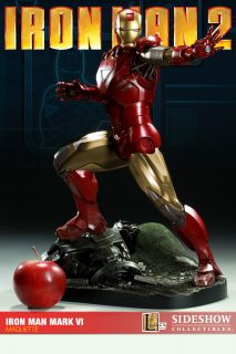 Sideshow Iron Man 2 Mark VI Maquette Avengers Statue Mint in Box